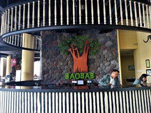 The reception area of Baobab Safari Resort Prigen