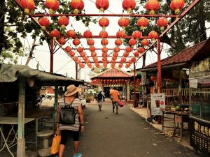 The entrance of Chew Jetty Village in Penang Malaysia