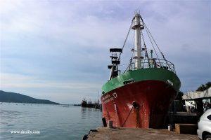 big ship at Hatyai Old Town Songkhla Southern Thailand