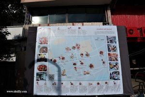 Map of Hatyai Old Town Songkhla Southern Thailand