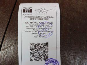 Taj Mahal Ticket