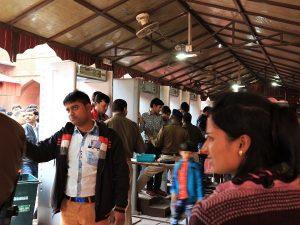 The security check point at Taj Mahal