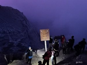 Blue fire area at Ijen Crater