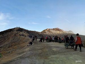 Beautiful scenery at Ijen Crater Banyuwangi