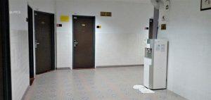 water dispenser at hallway