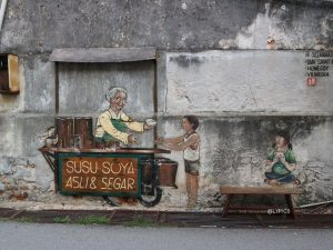 Iconic Murals in George Town Penang Malaysia