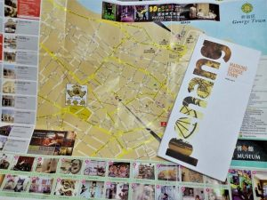 The map for mural hunt in George Town Penang