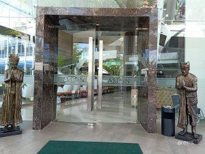 The entrance of Aston Hotel & Conference Banyuwangi Indonesia