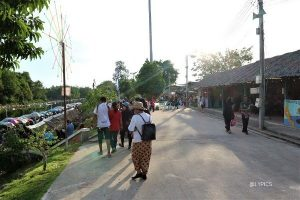entrance of Klong Hae Floating Market Hat Yai Thailand