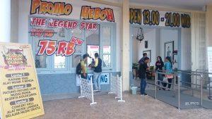 ticket counter at Dino Park Jatim Park 3 Batu