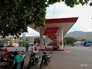 the gas station at Utama Raya One Stop Resting Point in Situbondo East Java