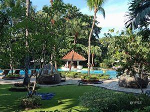 Swimming pool of Shangri-La Hotel Surabaya Indonesia