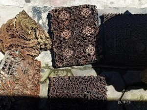 Old stamps for Batik at  Triwindu Antique Market Ngarsopuro Solo Indonesia