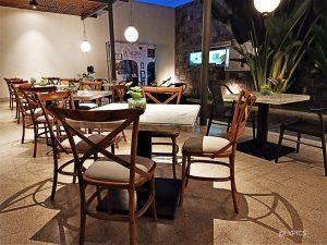 Outdoor area of La Regina Italian Restaurant Malang Indonesia