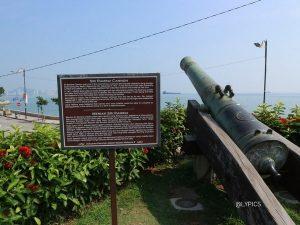 historic cannon at Fort Cornwallis George Town Penang Malaysia