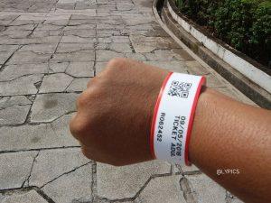 wristband ticket of Fort Cornwallis