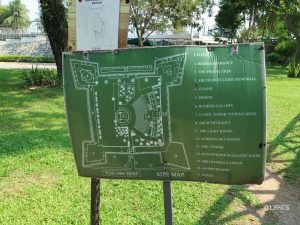 The map of Fort Cornwallis complex George Town