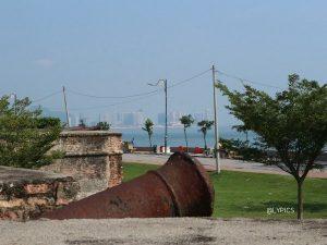 scenery of Melacca Strait from Fort Cornwallis