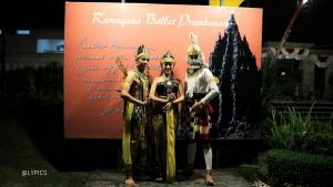 the dancers of Ramayana Ballet Show in Prambanan Temple Yogyakarta