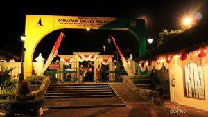 the entrance to Ramayana Ballet Show in Prambanan Temple