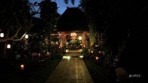 Entranve of Cuisine in Sasanti Restaurant Yogyakarta