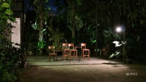 Stage for live entertainment while enjoy Authentic Indonesian Cuisine in Sasanti Restaurant Yogyakarta