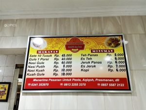 price of Mutton Satay and Soup At Elyas Malang East Java