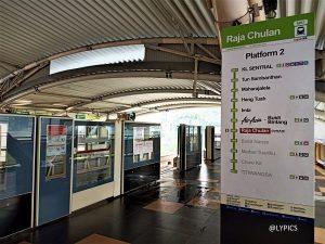 Taking Monorail from Raja Chulan Station Kuala Lumpur